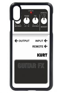 Personalised Custom White Guitar Effects Fx Pedal Motif (Any Name) Mobile Phone Case To Fit iPhone